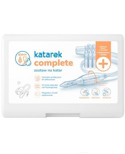 Katarek Complete zestaw na katar + 10 ampułek soli fizjologicznej [ZESTAW]