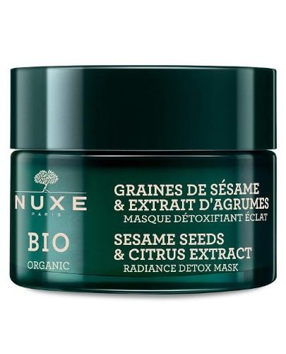 Nuxe Bio rozświetlająca maska detoksykująca ekstrakt z cytrusów i ziaren sezamu 50 ml
