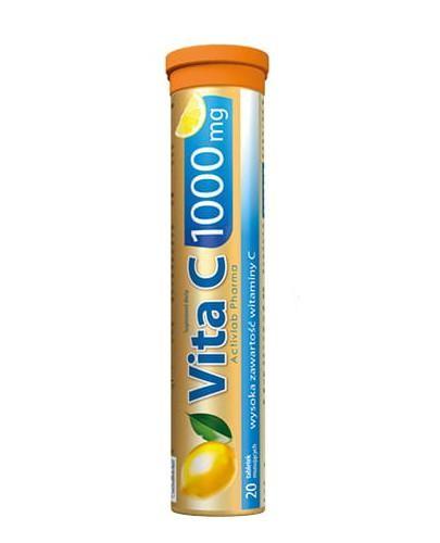 ActivLab Vit C 1000 mg o smaku cytrynowym 20 tabletek musujących