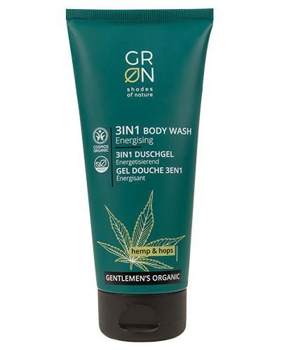 GRN Gentelmen's Organic Energetyzujący żel 3w1 do twarzy, włosów i ciała Olej Konopn...