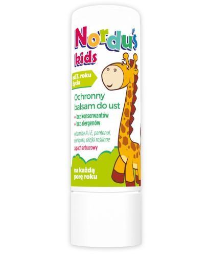 Norduś Kids balsam do ust dla dzieci 3,6 g