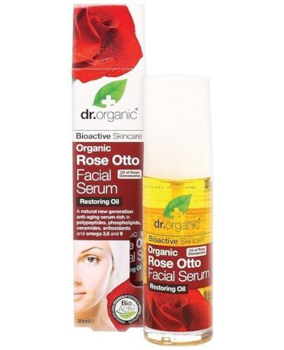 Dr.Organic Rose serum do twarzy z olejkiem różanym  50 ml