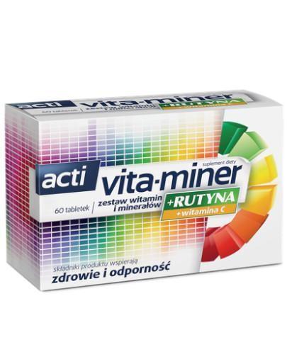 Acti Vita-Miner + Rutyna 60 kapsułek
