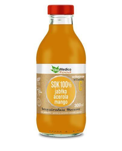 EkaMedica Sok 100% jabłko acerola mango 300 ml