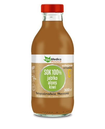EkaMedica Sok 100% jabłko aloes kiwi 300 ml