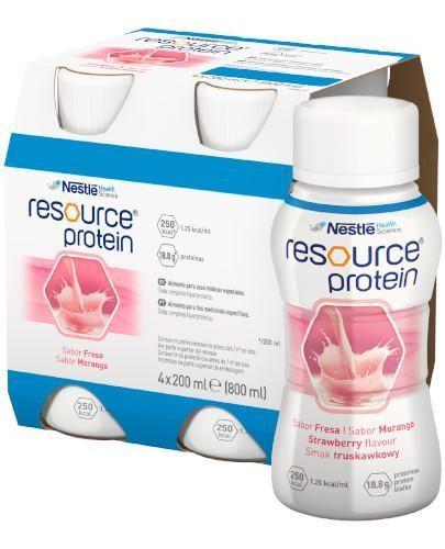 Resource Protein preparat odżywczy w płynie smak truskawkowy 4x 200 ml