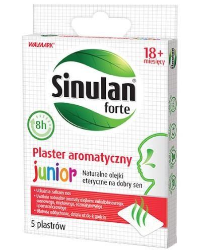 Sinulan Forte Junior plaster aromatyczny dla dzieci od 18 miesiąca 5 sztuk