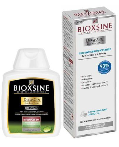 Bioxsine DermaGen ziołowy szampon przeciw wypadaniu do włosów tłustych 300 ml + serum ...