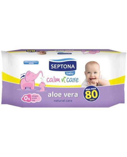 Septona Baby chusteczki nawilżane dla dzieci i niemowląt z aloesem 80 sztuk