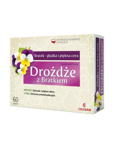 Colfarm Drożdże z Bratkiem 60 tabletek