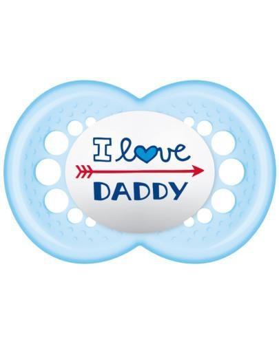 MAM Love&Affection smoczek silikonowy 6m+ uspokajający 1 sztuka [daddy_boy]