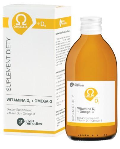 Witamina D3 + Omega-3 płyn 300 ml Invex Remedies