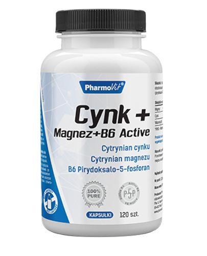 PharmoVit Cynk + Magnez + B6 Active 120 kapsułek