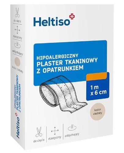 Heltiso plaster tkaninowy z opatrunkiem 1m x 6cm 1 sztuka