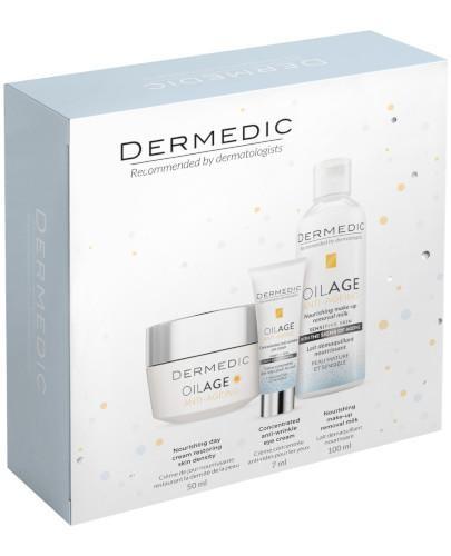 Dermedic Oilage odżywczy krem na dzień 50 ml + krem przeciwzmarszczkowy pod oczy 7 ml + ...