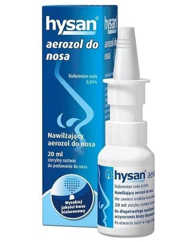 Hysan aerozol nawilżający do nosa 20 ml