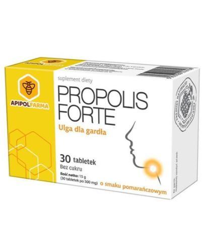 Propolis Forte ulga dla gardła o smaku mentolowym 30 tabletek