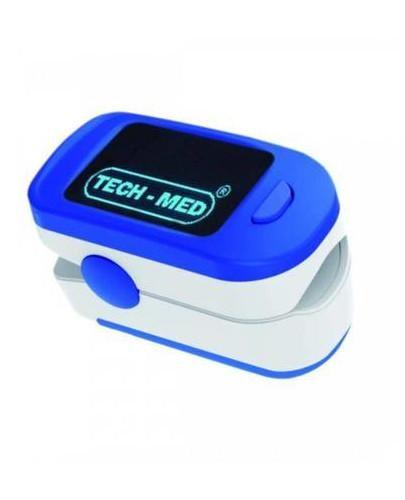 Tech-Med TM-PX30 pulsoksymetr napalcowy niebieski 1 sztuka  whited-out