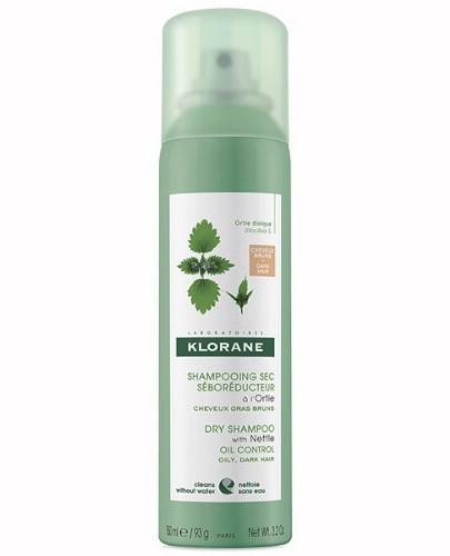 Klorane seboregulujący szampon suchy z wyciągiem z pokrzywy do włosów ciemnych 150 ml
