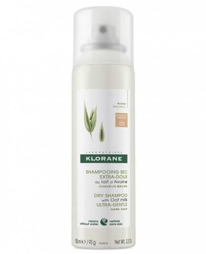 Klorane ultrałagodny szampon suchy na bazie mleczka z owsa do włosów ciemnych 150 ml