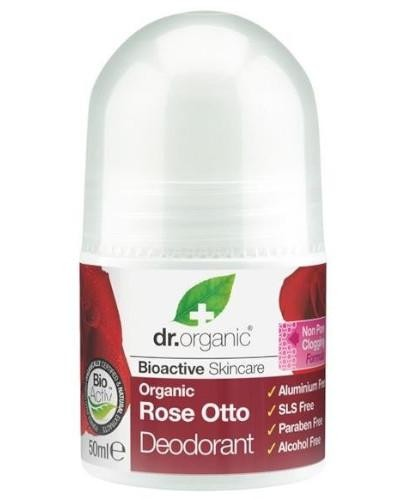 Dr.Organic Rose dezodorant z olejkiem różanym 50 ml