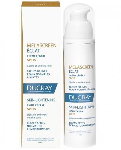 Ducray Melascreen Eclat lekki krem SPF15 rozjaśniający skórę 40 ml