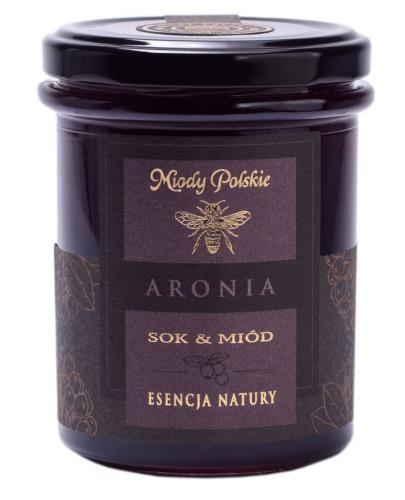 Miody Polskie miód z sokiem z aronii 250 g