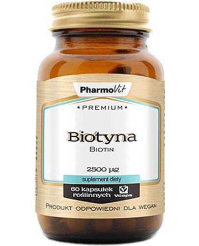 PharmoVit Premium Biotyna 2500 mg 60 kapsułek
