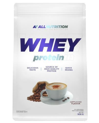 Allnutrition Whey Protein odżywka białkowa o smaku cappuccino 908 g