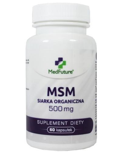 MedFuture MSM Siarka Organiczna 500 mg 60 kapsułek