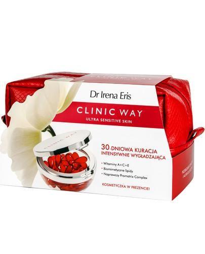 Dr Irena Eris Clinic Way 30-dniowa kuracja intensywnie wygładzająca 30 kapsułek + kosme...