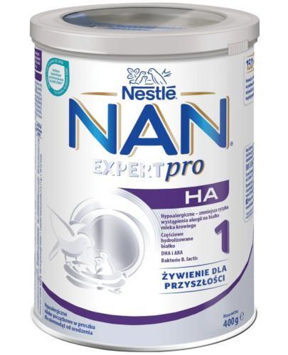 NESTLE NAN OPTIPRO HA 1 Hypoalergiczne mleko początkowe w proszku dla niemowląt od urodz...