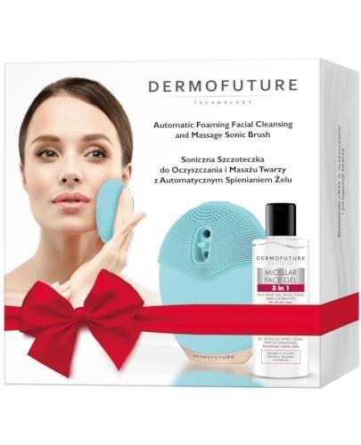 Dermofuture Szczoteczka soniczna do oczyszczania i masażu twarzy z automatycznym spienian...
