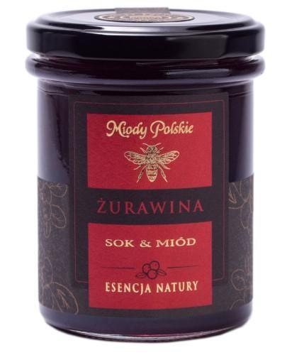 Miody Polskie miód z sokiem z żurawiny 250 g