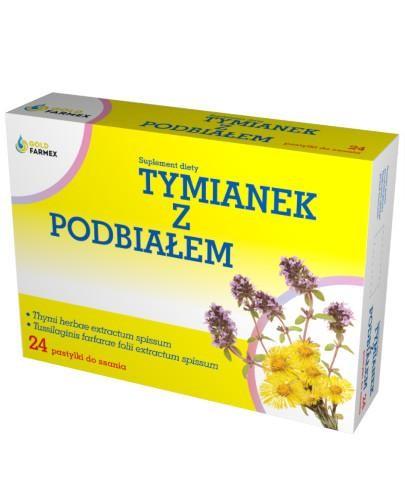 GoldFarmex Tymianek i podbiał 24 pastylek do ssania