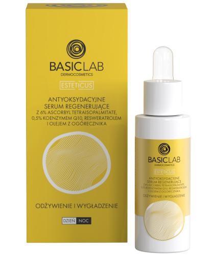 BasicLab Esteticus antyoksydacyjne serum regenerujące do twarzy odżywienie i wygładzeni...