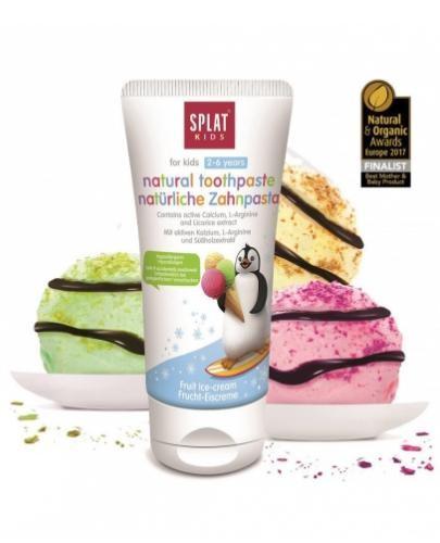 Splat Kids naturalna pasta do zębów dla dzieci 2-6 lat o smaku lodów 50 ml