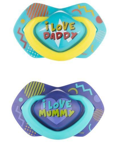 Canpol Babies smoczek silikonowy symetryczny Neon Love 6-18m niebieski 2 sztuki [22/653_bl...