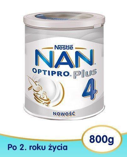 NESTLE NAN OPTIPRO Plus 4 Mleko modyfikowane w proszku dla dzieci po 2 roku 4x 800 g [WIEL...