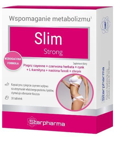 Slim Strong wzbogacona formuła 30 tabletek