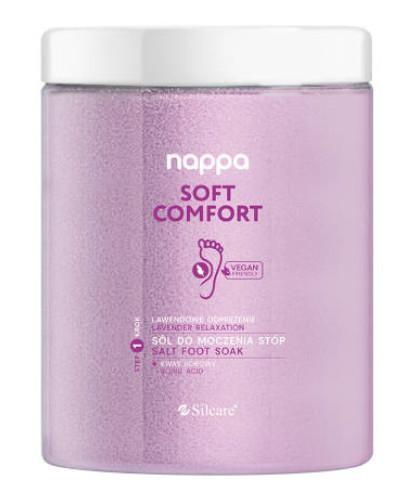 Silcare Nappa Soft Comfort sól do stóp lawendowa 1250 g  [KUP 2 produkty Silcare = mas...