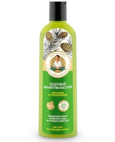 Babuszka Agafia szampon do włosów suchych i osłabionych cedrowy 280 ml