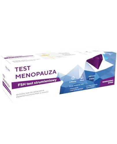 Diather Test Menopauza domowy test strumieniowy do oznaczenia stężenia hormonu FSH w moc...