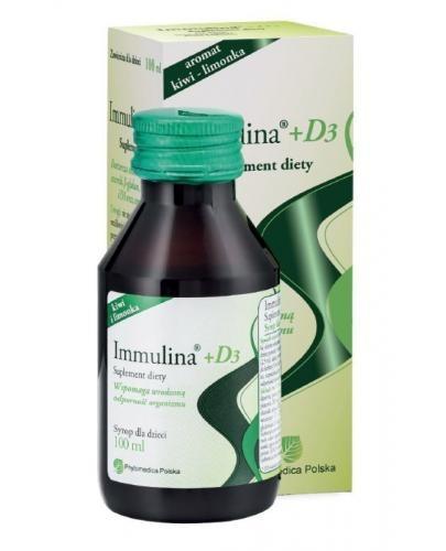 Immulina + D3 syrop 100 ml