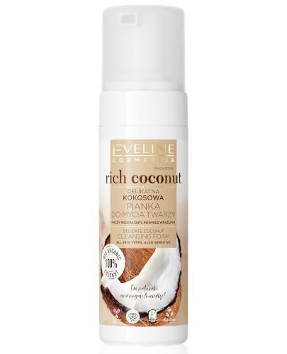 Eveline Rich Coconut delikatna kokosowa pianka do mycia twarzy 150 ml