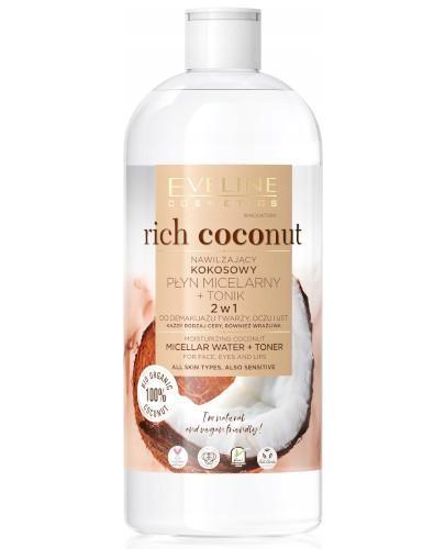 Eveline Rich Coconut nawilżający kokosowy płyn micelarny i tonik 500 ml
