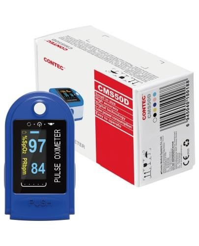 Contec CMS50D pulsoksymetr napalcowy 1 sztuka  whited-out
