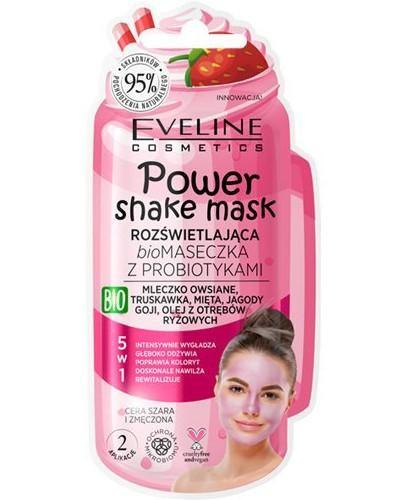 Eveline Power Shake rozświetlająca biomaseczka z probiotykami 10 ml