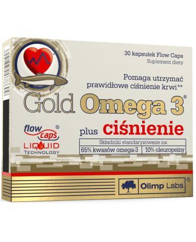 Olimp Gold Omega 3 plus ciśnienie 30 kapsułek