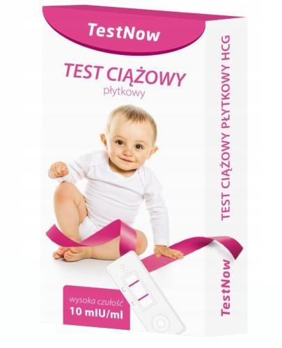 Test ciążowy hCG płytkowy TestNow 1 sztuka